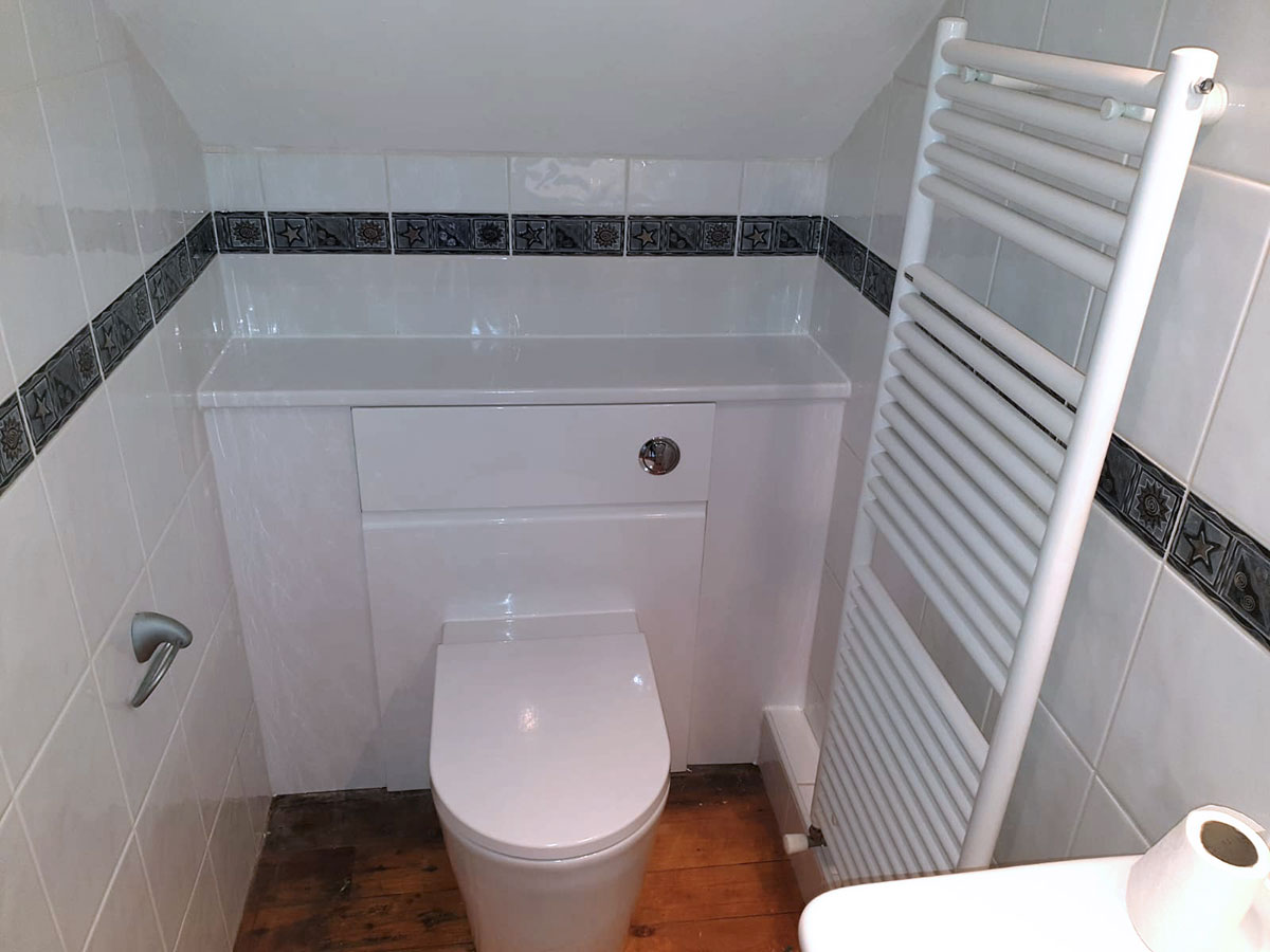 new cloakroom from toilet installer