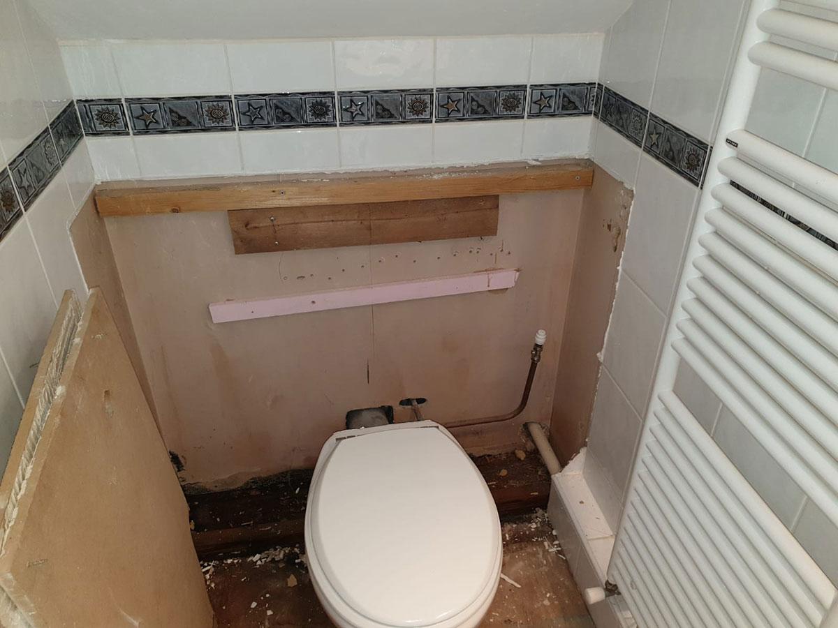 cloakroom toilet installation in basingstoke