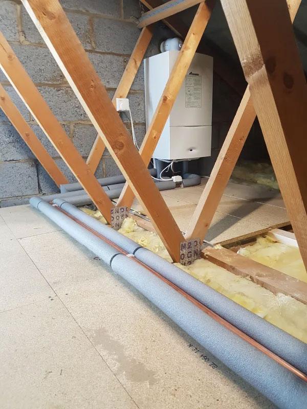 Worcester system boiler in loft