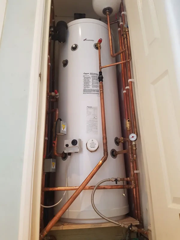 Worcester system boiler and unvented cylinder