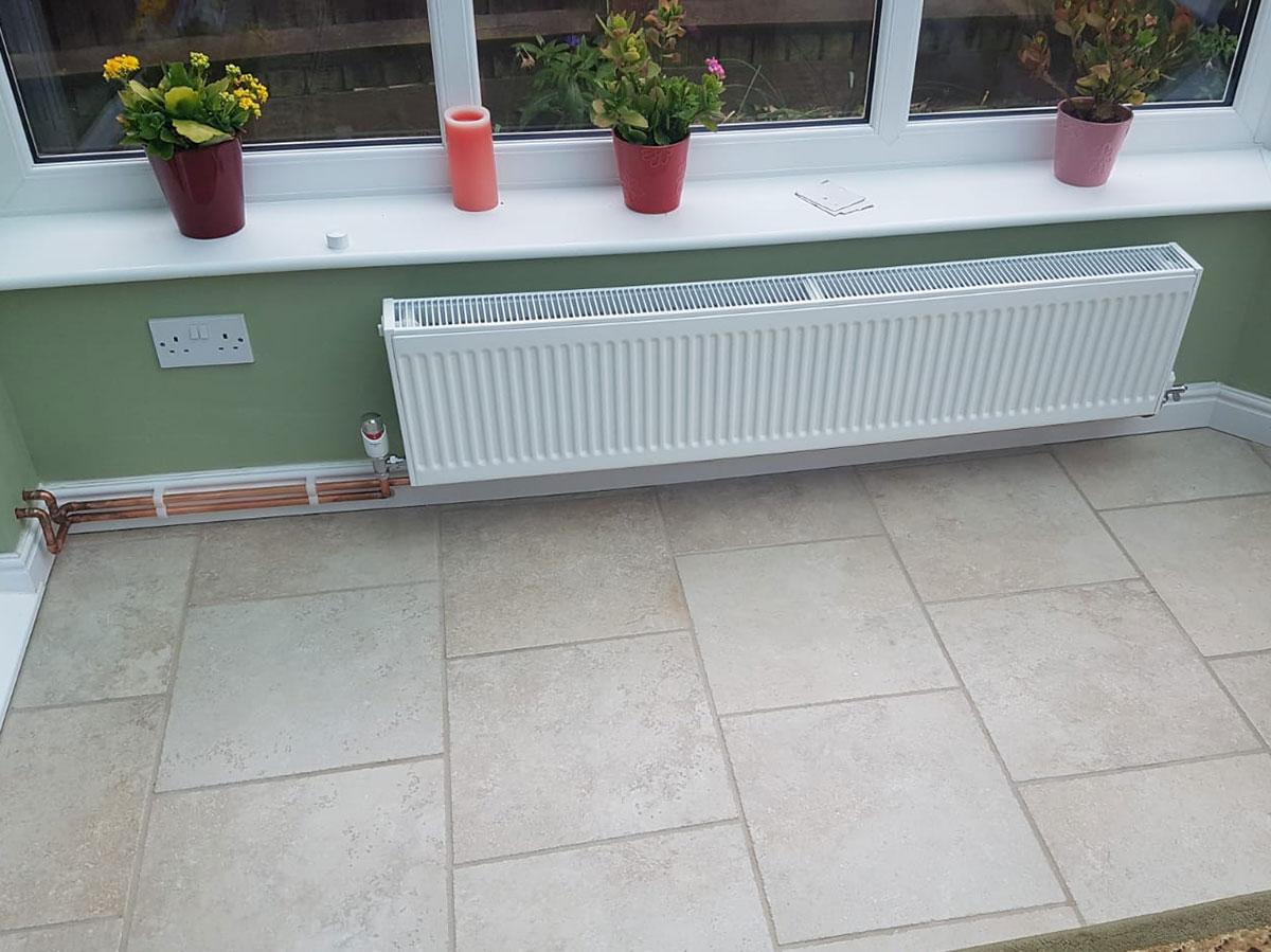 conservatory radiator installation