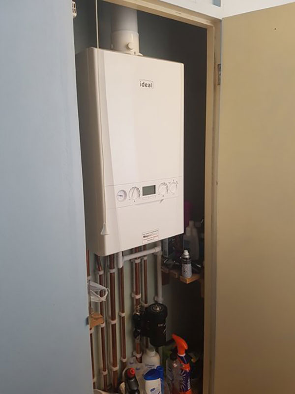 Redundant gravity boiler & cylinder replaced with Ideal combi boiler