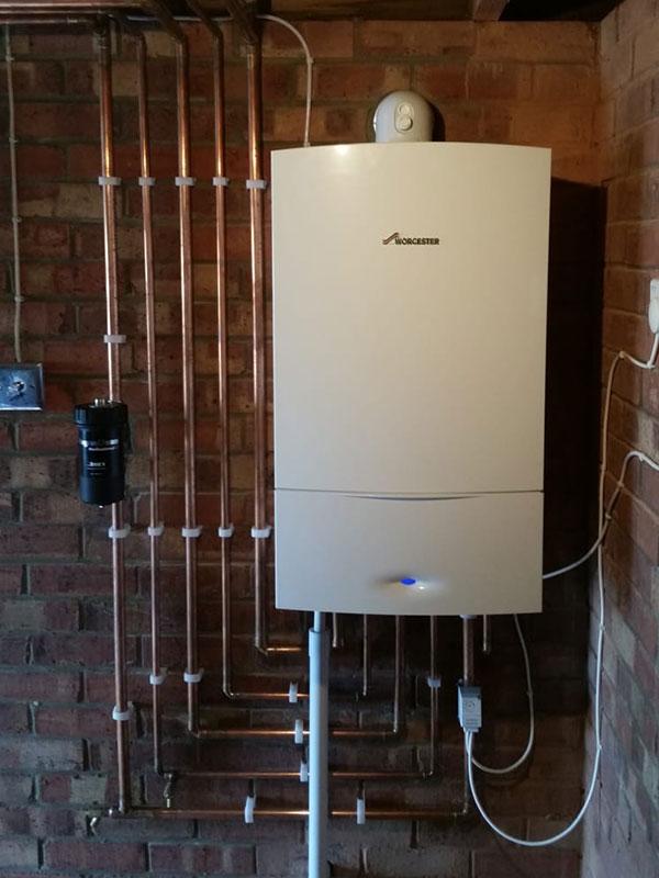 garage combi boiler in Basingstoke