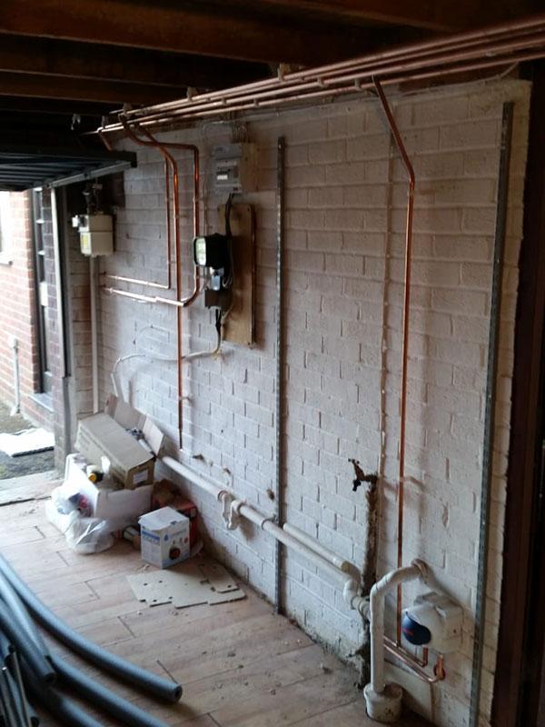 Garage Pipework for boiler install
