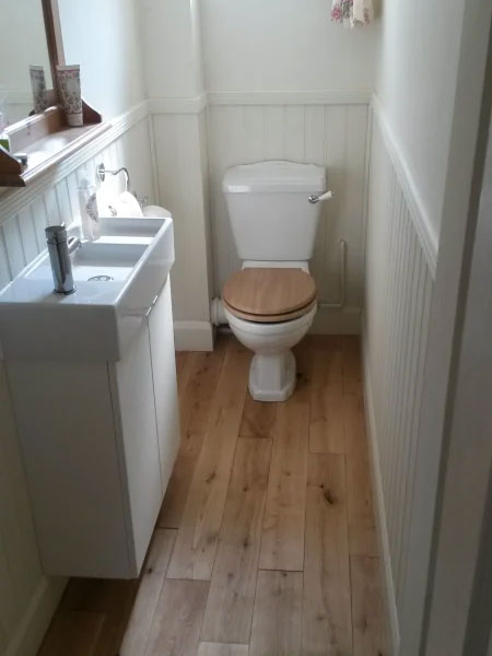 after toilet installation