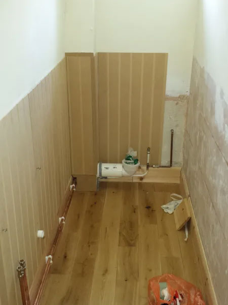 toilet before installation